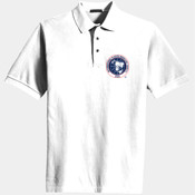 Embroidered Jersey Polo Shirt