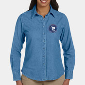 Ladies' Embroidered Long Sleeved Denim Shirt