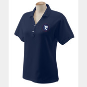 Ladies' Embroidered Pima Pique Short Sleeve Polo